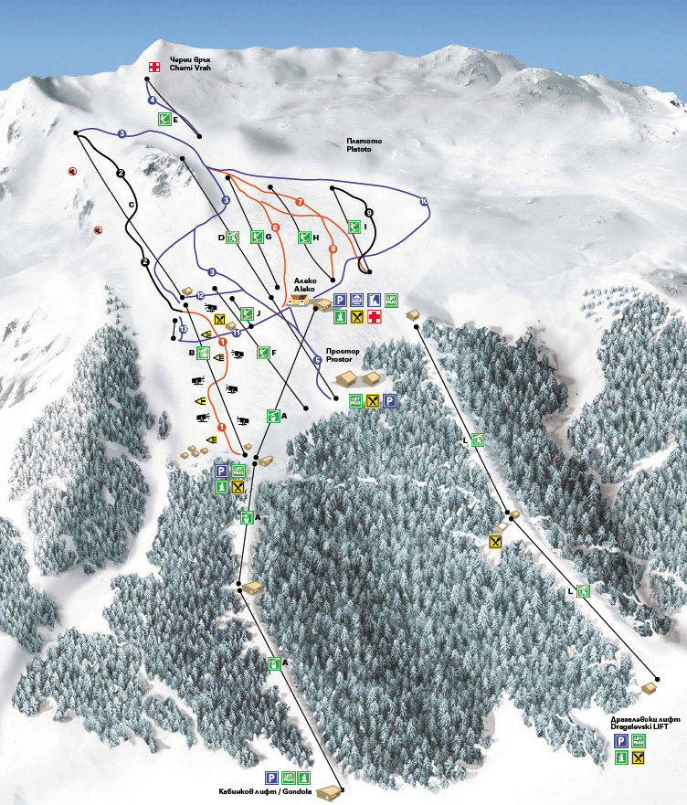 карта на Витоша